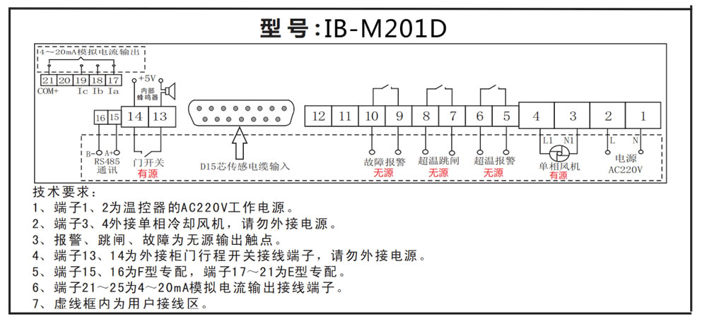 IB-M201干式变压器温控器