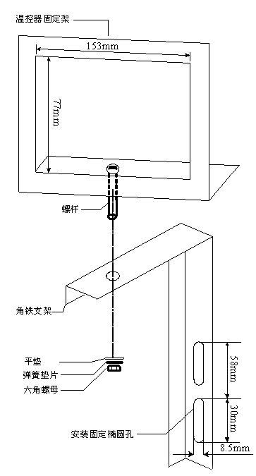 IB-S201干式变压器温控器安装支架