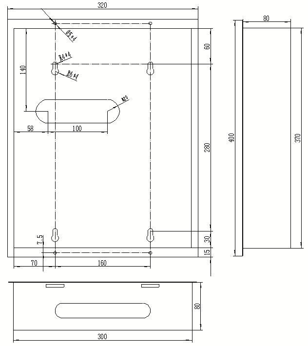 IB-E201干式变压器温控器安装尺寸图